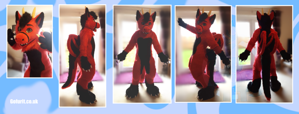 Kane the Dragon - Digitigrade fullsuit